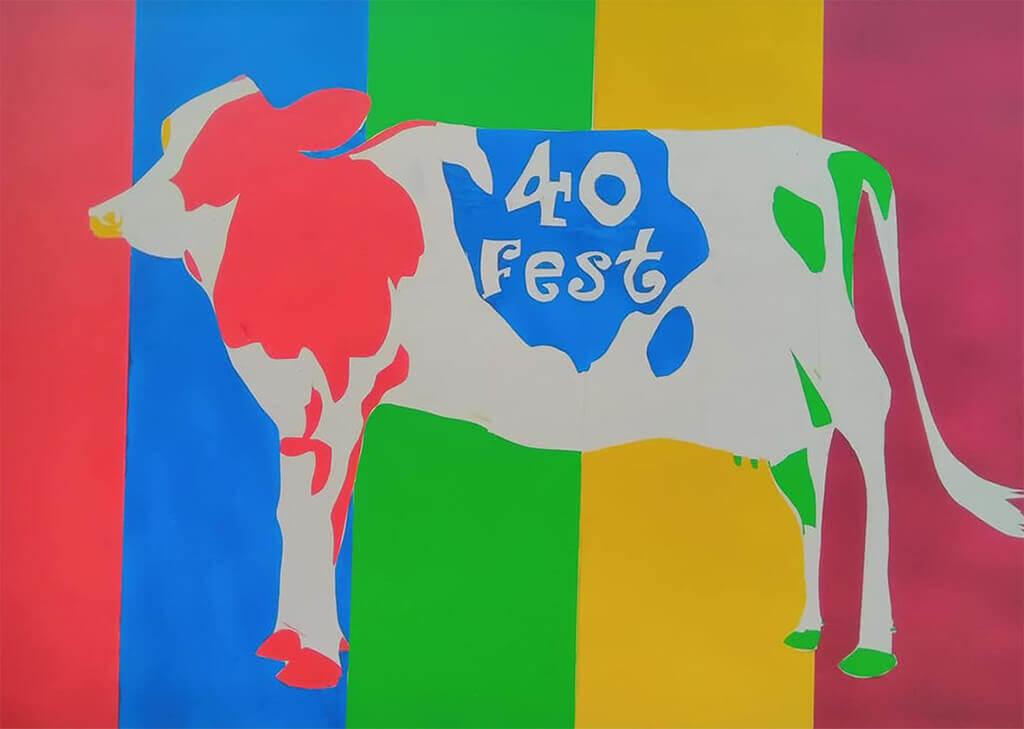 Photo of the FortyFest cow
