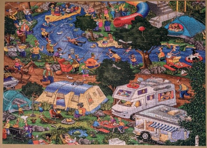 Getting Away From It All (part 2 of 3). 1000 piece jigsaw.
